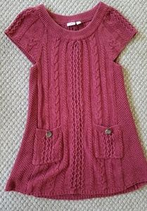 Cato Cable Knit Tunic Button-Pocket Sweater